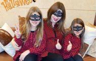 نانسي عجرم وابنتيها يشعلون أجواء عيد الهالوين